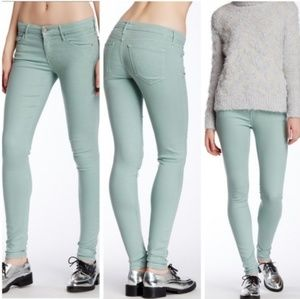 🎉Mother The Looker Heaven Sent Sage Skinny Jeans